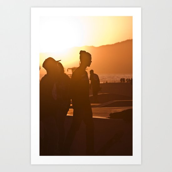 Skater at Sunset, 2012 Art Print