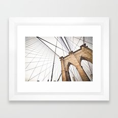 Brooklyn Bridge I Framed Art Print