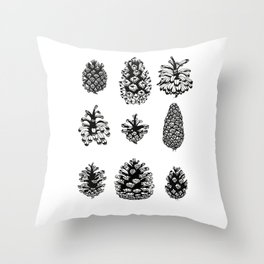 Pinecone study Throw Pillow