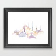 Watercolor landscape illustration_Istanbul - Saint Sophia Framed Art Print