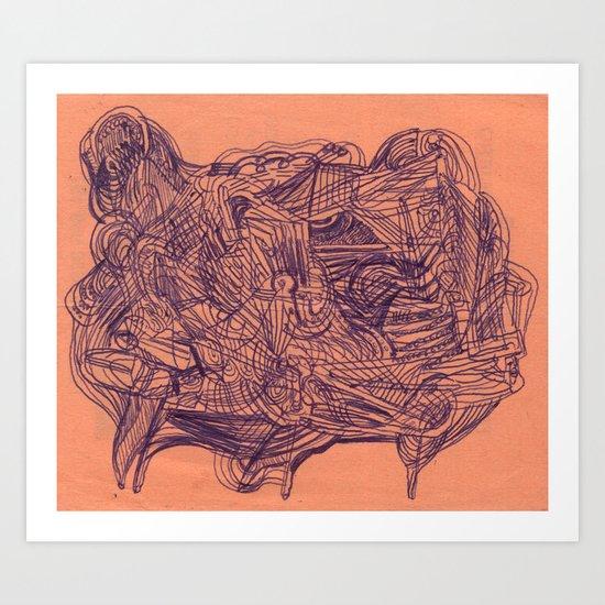 in summary, bovine configuration Art Print