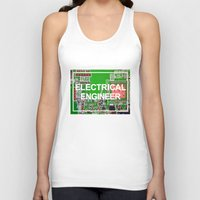 engineer Tank Tops featuring Electrical Engineer by EEShirts