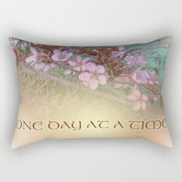 ODAT Plum Blossoms on Green Rectangular Pillow