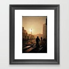 Foggy City Framed Art Print