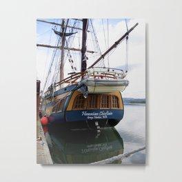 Tall Ship in Coos Bay Oregon Metal Print