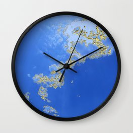 Orencyel : sky gazing before this golden melody Wall Clock