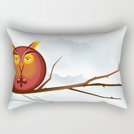 Otis the Owl on a Tuesday Rectangular Pillow