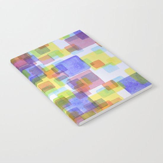 Floating Lightfull Squares  Notebook