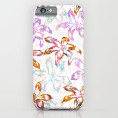Aztec Sunrise Floral - White iPhone 6s Slim Case