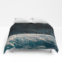 Earth and galaxy. Night Sky Space Comforters