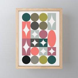 Mid Century Focal Point Framed Mini Art Print