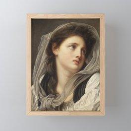 Head of a Young Woman Framed Mini Art Print