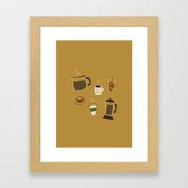 All the Coffee Framed Art Print