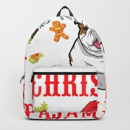 English Bulldog Snow Gilf This Is My Christmas Pajama Shirt Backpack