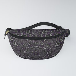Purple, Gray, and Black Kaleidoscope Fanny Pack
