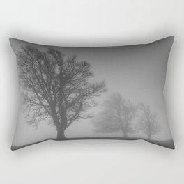 Morning Mist Trees - Landscape Photography Rectangular Pillow