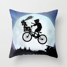 E.T Kid Throw Pillow