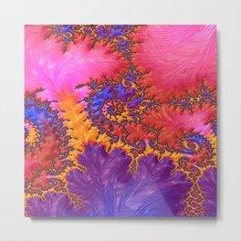 Fractual in Hot Pinks and Purples Metal Print