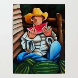Guajiro with melons. Miguez art Poster