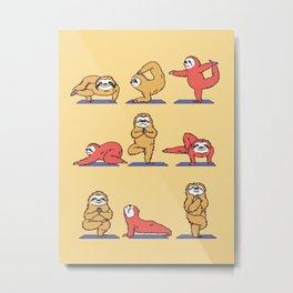 Sloth Yoga Metal Print