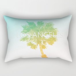 Retro Vintage Ombre Los Angeles, Southern California Palm Tree Colored Print Rectangular Pillow