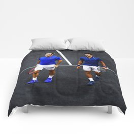 Federer and Djokovic Doubles Comforters