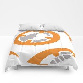 Orange and Gray Color Block Comforters