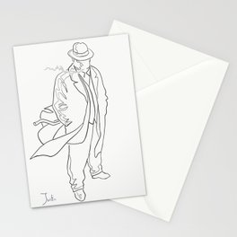 Mobster in contemplation Stationery Cards