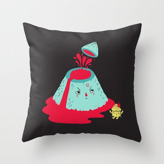 Watch Your Temper Throw Pillow