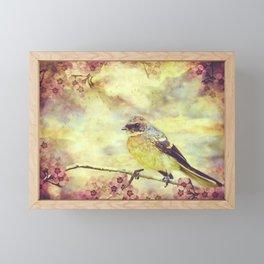Little Vintage Songbird Framed Mini Art Print