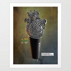 CRZN Dynamic Microphone - 003 Art Print