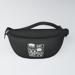 Eat Sleep Drum & Bass Repeat - Party Festival Beat Fanny Pack