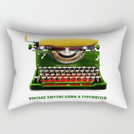 ORGANIC INVENTIONS SERIES: Vintage Smythe-Corn-A Typewriter Rectangular Pillow