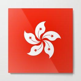Flag of hong kong Metal Print