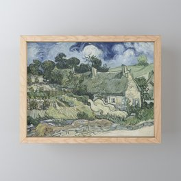 Thatched Cottages at Cordeville Framed Mini Art Print