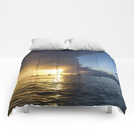 Tropical Sunset Comforters