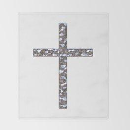 Chrome Crucifix Solid Throw Blanket