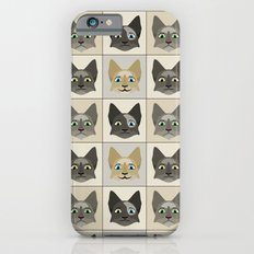 Anime Cat Faces Pattern Slim Case iPhone 6s