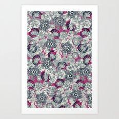 succulents pink indigo Art Print