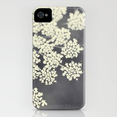 Black and White Queen Annes Lace Slim Case iPhone (4, 4s)