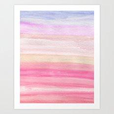 Pastel Watercolor Sunrise Art Print
