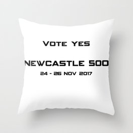 Newcastle 500 Throw Pillow