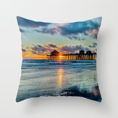 Surf City Sunset  11/15/15   Throw Pillow