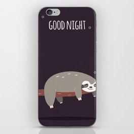 Sloth card - good night iPhone Skin