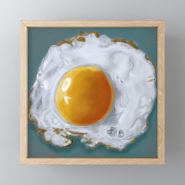 Fried Egg Framed Mini Art Print