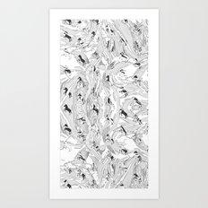 Zebra Cowboys Art Print