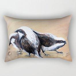 three little sparrows Rectangular Pillow