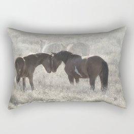 Nuzzling Rectangular Pillow