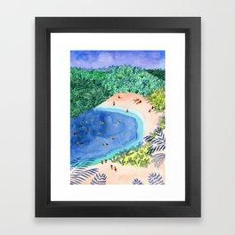 French Paradise Framed Art Print