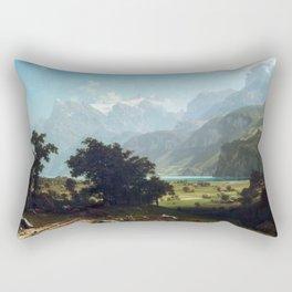 Albert Bierstadt Lake Lucerne Rectangular Pillow